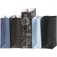 Bolsas de papel, A: 21 cm, medidas 6x9 cm, 80 gr, 5x10 paquete/ 1 paquete
