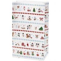 Bolsas de papel, Diversión polar, A: 21 cm, medidas 6x12 cm, 8 ud/ 1 paquete
