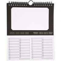Calendario perpétuo, medidas 19x23 cm, 180 gr, 5 ud/ 1 paquete