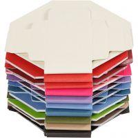 Cajas dobladas de colores, medidas 5,5x5,5 cm, 250 gr, 100 ud/ 1 paquete