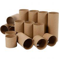 Tubo de papel, L. 4,7+9,3+14 cm, 60 ud/ 1 paquete