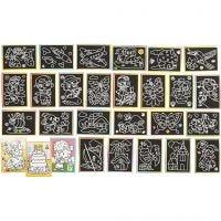 Dibujos para rascar, medidas 9x12 cm, 96 stdas/ 1 paquete