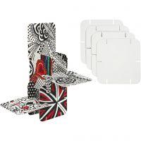 Piezas de construcción, medidas 9,3x9,3 cm, blanco, 20 ud/ 1 paquete