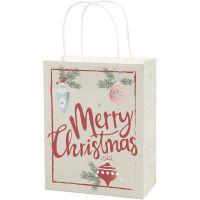 Bolsas de papel, A: 23 cm, medidas 9x18 cm, 120 gr, 3 ud/ 1 paquete