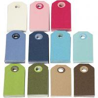 Etiquetas de colores para regalo, medidas 6x3 cm, El contenido puede variar , surtido de colores, 200 stdas/ 1 paquete