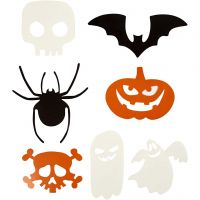 Motivos de Halloween, medidas 5-10 cm, 180 gr, 50 ud/ 1 paquete