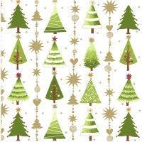 Servilletas, Árboles de Navidad, medidas 33x33 cm, 20 ud/ 1 paquete
