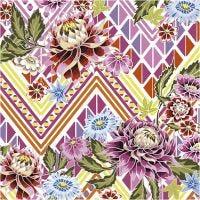 Servilletas, flores, medidas 33x33 cm, 20 ud/ 1 paquete