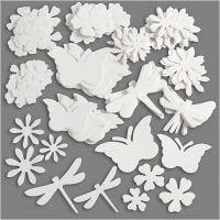 """Elementos troquelados """"verano"""", medidas 4,5-12 cm, 240 gr, blanco, 362 ud/ 1 paquete"""