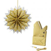 Estrella con bolsas de papel, 170 gr, dorado, 1 set