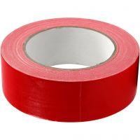 Cinta adhesiva, A: 38 mm, rojo, 25 m/ 1 rollo