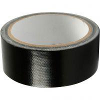 Cinta adhesiva, A: 38 mm, negro, 25 m/ 1 rollo