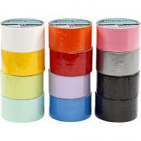 Cinta americana, A: 48 mm, surtido de colores, 12x5 m/ 1 paquete