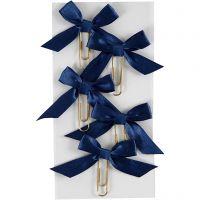 Clips de metal, medidas 40x70 mm, azul, 5 ud/ 1 paquete