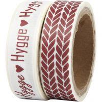Cinta adhesiva, 'hygge' y tejido, A: 15 mm, 2x5 m/ 1 paquete