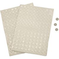 Puntos de silicona, A: 1,5 mm, dia: 8 mm, 300 ud/ 1 paquete
