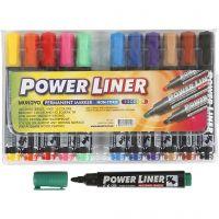 Power liner, trazo ancho 1,5-3 mm, surtido de colores, 12 ud/ 1 paquete