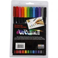 Rotuladores Le Plume II, colores fuertes, 12 ud/ 1 paquete
