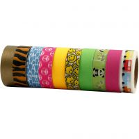 Washi Tape, A: 15 mm, 10x10 m/ 1 paquete