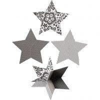 Estrellas 3D, dia: 15 cm, 300 gr, 3 ud/ 1 paquete