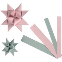Tiras de papel para estrellas, A: 15+25 mm, dia: 6,5+11,5 cm, 60 tiras/ 1 paquete