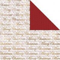 Papel estampado, Feliz Navidad & topos, 30,5x30,5 cm, 180 gr, dorado, 3 hoja/ 1 paquete