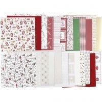 Bloc de papel de diseño, 30,5x30,5 cm, 120+128 gr, 24 hoja/ 1 paquete