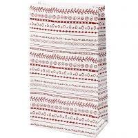 Bolsas de papel, Garabatos, A: 21 cm, medidas 6x12 cm, 8 ud/ 1 paquete