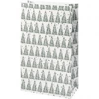 Bolsas de papel, Piñas, A: 21 cm, medidas 6x12 cm, 8 ud/ 1 paquete