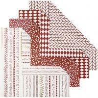 Papel Origami, medidas 15x15 cm, 80 gr, rojo, 40 hoja/ 1 paquete