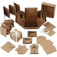 Caja de explosión, medidas 7x7x7,5+12x12x12 cm, natural, 1 ud