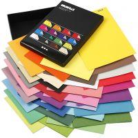 Cartulina Color Bar, A4, 210x297 mm, 250 gr, surtido de colores, 16x10 hoja/ 1 paquete