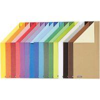 Cartulina Color Bar, A4, 210x297 mm, 250 gr, 16 hojas stdas/ 1 paquete