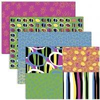 Decoupage Paper, 25x35 cm, 17 gr, colores felices, 4x2 hoja/ 1 paquete