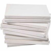 Lienzo estirado, profundidad 1,6 cm, A5, medidas 14,8x21 cm, 280 gr, blanco, 80 ud/ 1 paquete