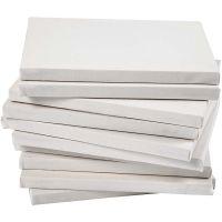 Lienzo estirado, profundidad 1,6 cm, medidas 18x24 cm, 280 gr, blanco, 40 ud/ 1 paquete