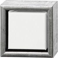 Lienzo ArtistLine con marco, profundidad 3 cm, medidas 14x14 cm, plata antigua, blanco, 1 ud