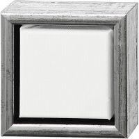 Lienzo ArtistLine con marco, profundidad 3 cm, medidas 14x14 cm, 360 gr, blanco, 6 ud/ 1 paquete