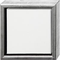 Lienzo ArtistLine con marco, profundidad 3 cm, medidas 19x19 cm, blanco, 6 ud/ 1 paquete