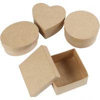 Cajas medianas, A: 5 cm, dia: 10-12 cm, 4 ud/ 1 paquete