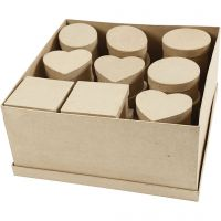 Cajas medianas, A: 5 cm, dia: 10-12 cm, 28 ud/ 1 paquete