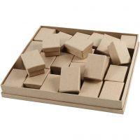 Cajas , A: 3,5 cm, medidas 5x7 cm, 24 ud/ 1 paquete