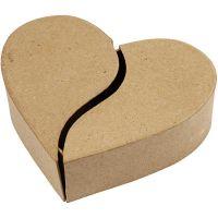 Caja corazón, A: 5 cm, dia: 16,5 cm, 1 ud