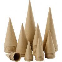 Conos, A: 8-20 cm, dia: 4-8 cm, 50 ud/ 1 paquete