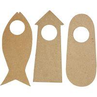 Colgador de puerta, medidas 10x25 cm, 6 ud/ 1 paquete