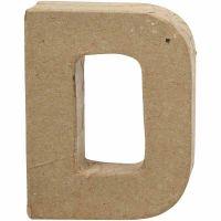 Letra, D, A: 10 cm, A: 7,7 cm, grosor 1,7 cm, 1 ud