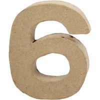 Número, 6, A: 10 cm, A: 8,2 cm, grosor 1,7 cm, 1 ud