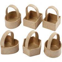 Mini cesto, A: 6,5 cm, medidas 4,5x4,5 cm, 6 ud/ 1 paquete