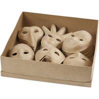 Máscaras medida media, A: 12-21 cm, 60 ud/ 1 paquete