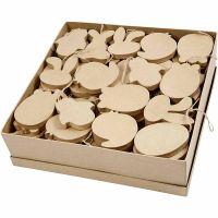 Decoraciones de pascua colgantes, A: 10 cm, grosor 12 mm, 114 ud/ 1 paquete